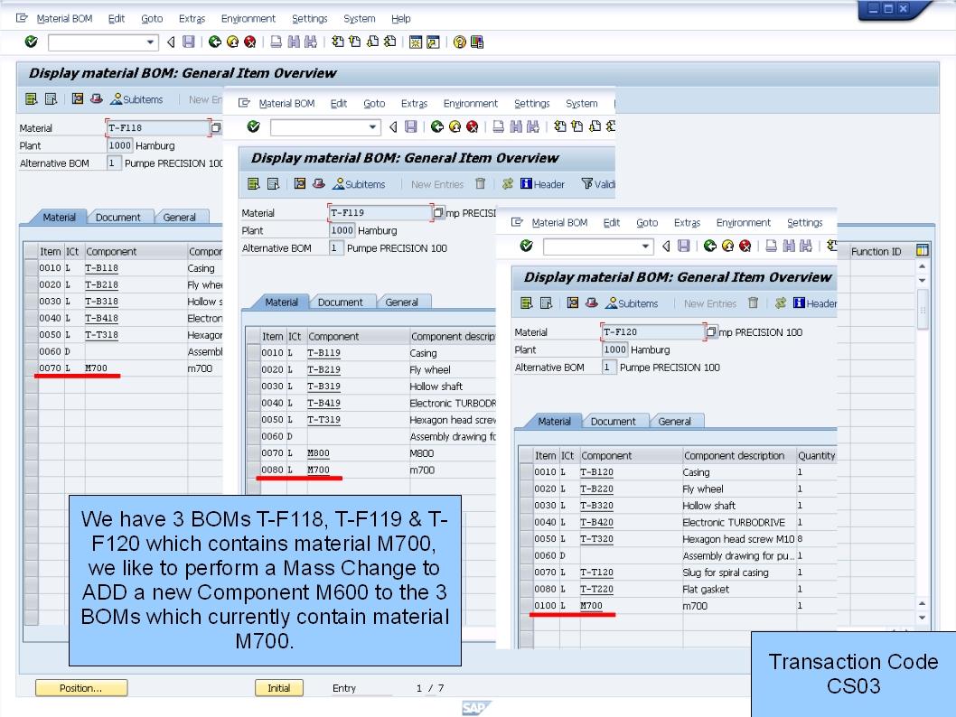 青蛙SAP分享 Learning & Examination: PP Mass Change Add BOM item