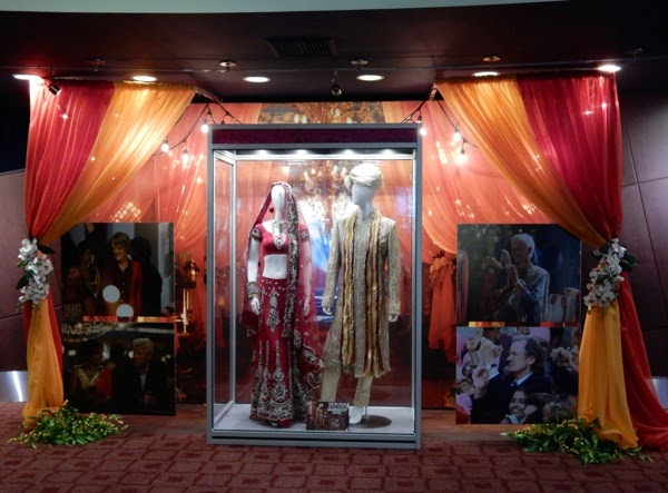 Second Best Exotic Marigold Hotel movie costume exhibit