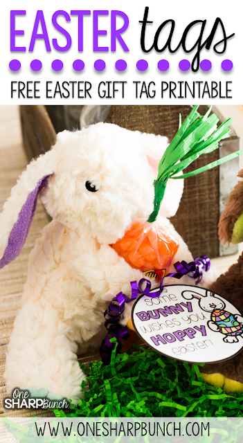 Free Printable Easter Gift Tags – Use these free printable gift tags to wish some bunny a hoppy Easter!  It'll be the perfect addition to all of your Easter basket ideas!