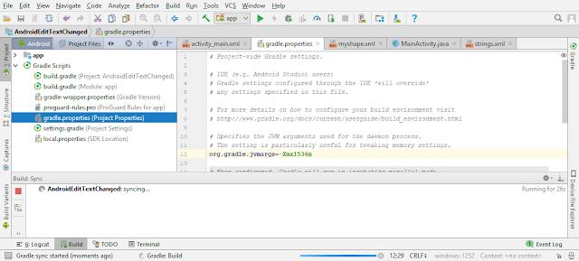 Android Studio Tips: Better Educate Yesteryear Setting Org.Gradle.Jvmargs Inwards Gradle Script