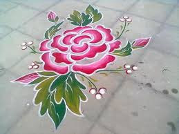 Rose Flower Rangoli