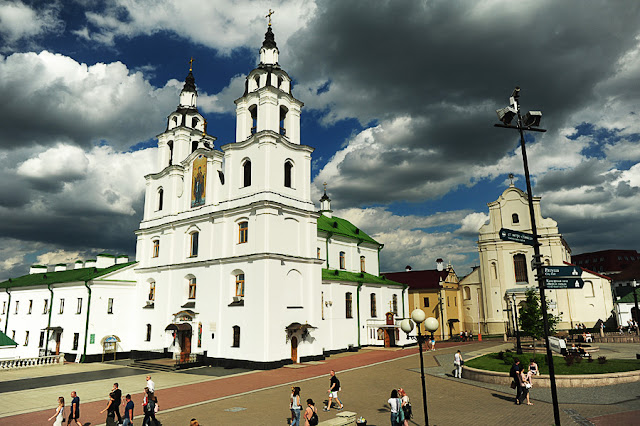 Minsk, beloruska prestolnica, katedrala