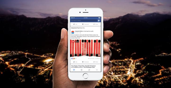 Su Facebook arrivano le Dirette Audio HTNovo