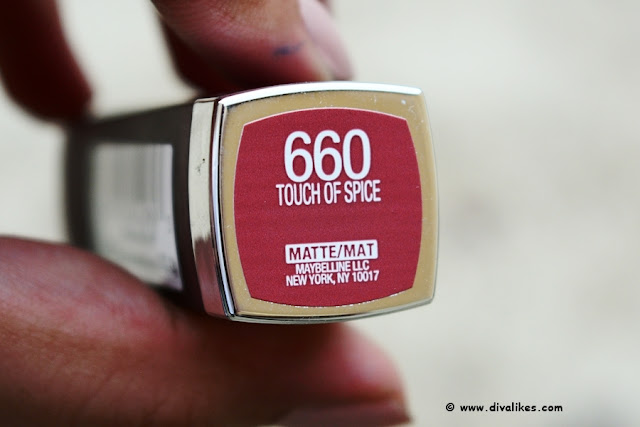 Maybelline Color Sensational Creamy Matte Lipstick Touch Of Spice