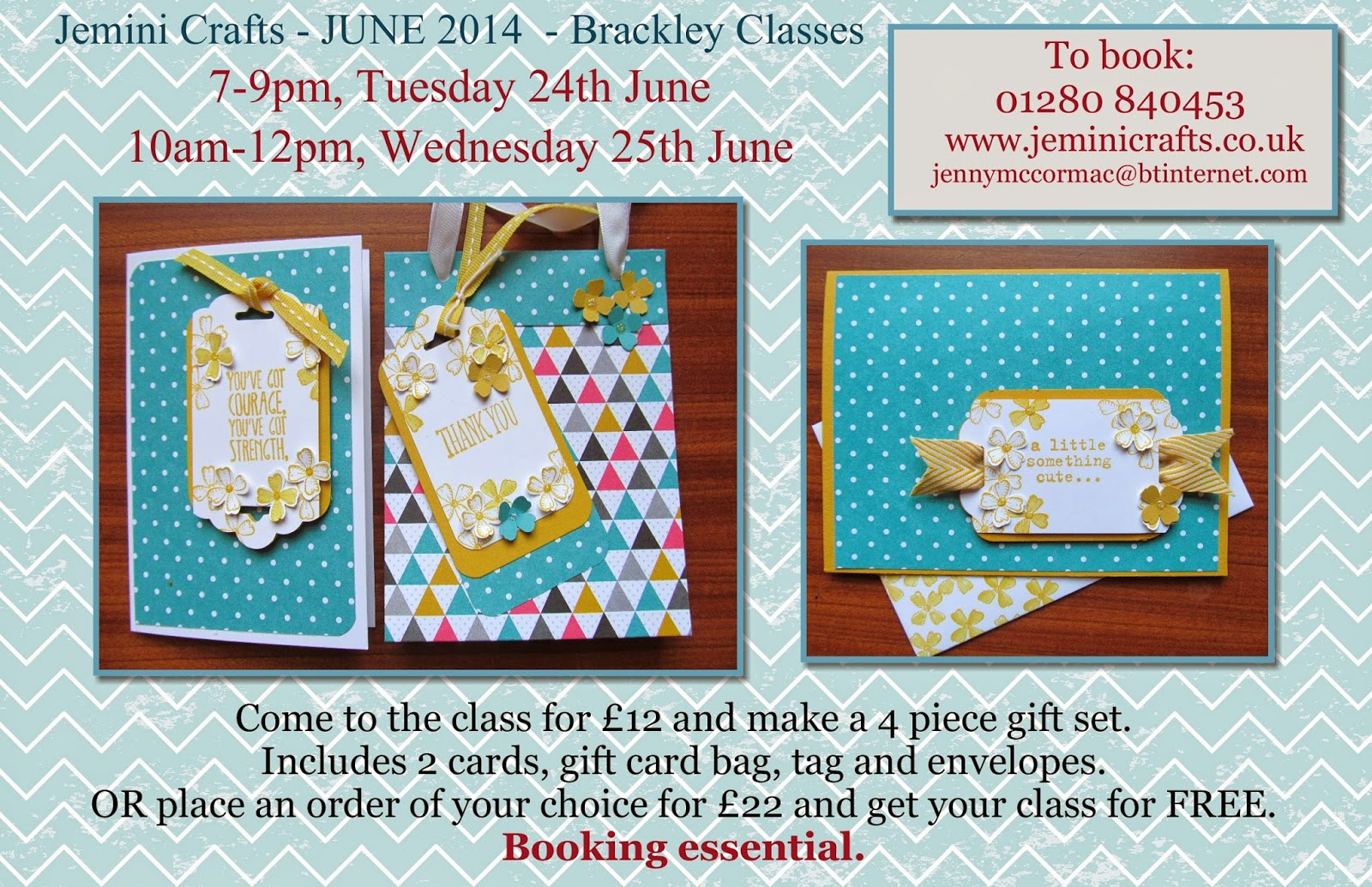 Card class Brackley June 2014 jeminicrafts.co.uk