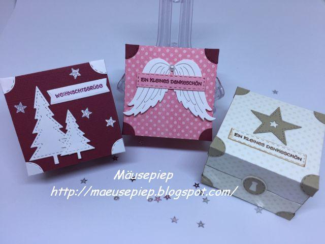 Mäusepiep Bloghop Weihnachten Bei Bienis Basteloase