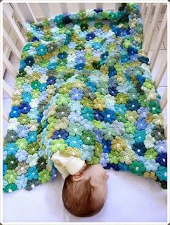 Tığ işi Bebek Battaniye Modelleri 3
