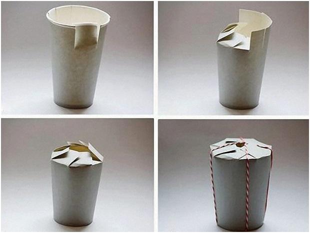 Kağıt Bardaktan Hediye Kutusu