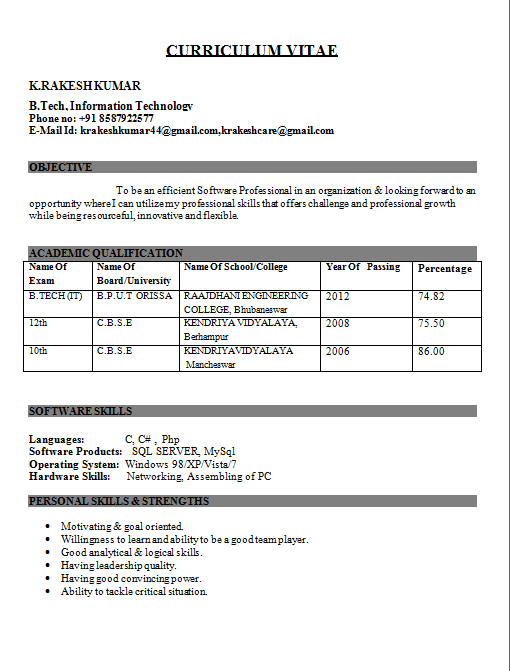 resume samples civil engineering freshers diploma ece resume