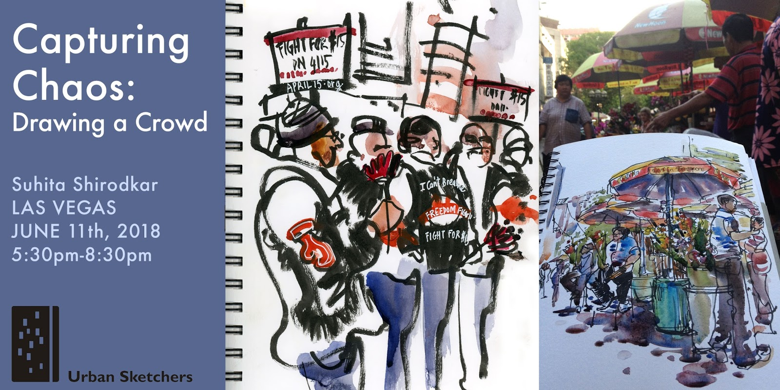 Capturing Chaos: Drawing a Crowd | Urban Sketchers