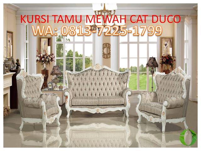 KURSI TAMU MEWAH CAT DUCO