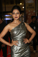 Rakul Preet Singh in Shining Glittering Golden Half Shoulder Gown at 64th Jio Filmfare Awards South ~  Exclusive 027.JPG
