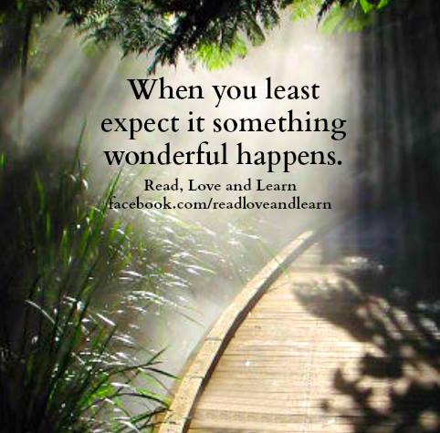 When You Least Expect It Something Wonderful Happens Quotes