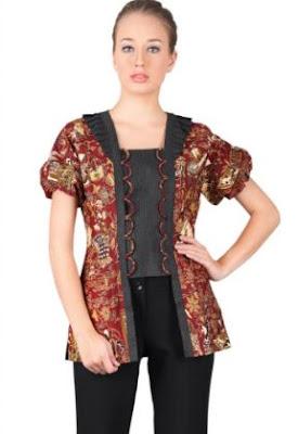 Model baju kemeja batik wanita untuk kerja