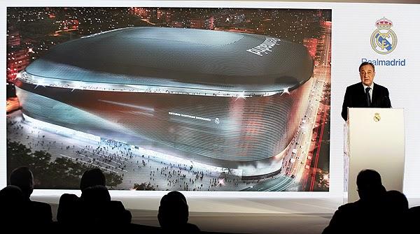 Florentino Pérez en la presentación del proyecto de reforma del Bernabéu