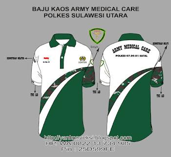 BAJU KAOS KERJA PESANAN ARMY MEDICAL CARE SULAWESI UTARA