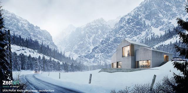 pts ghép phối cảnh kiến trúc, photoshop architect tphcm