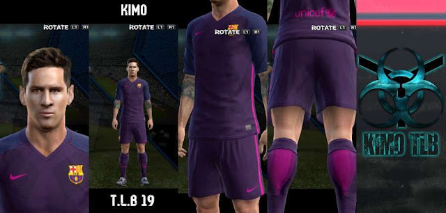 PES 2013 Barcelona Kit Season 2016/2017