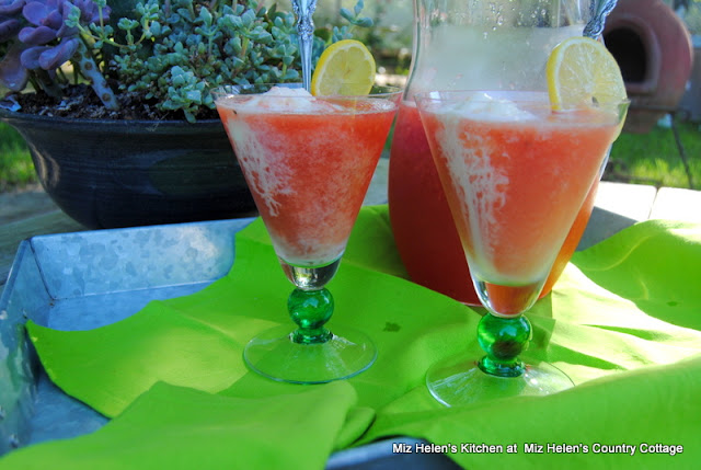 Watermelon Lemonade Float at Miz Helen's Country Cottage
