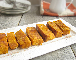 Baked Pumpkin French Toast Sticks
