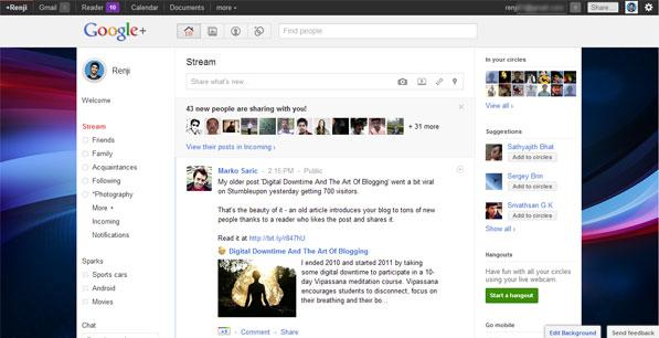Google Plus Background Image