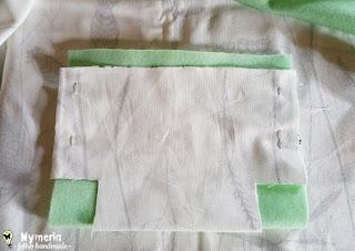 come fissare dei sacchetti di stoffa porta vasi