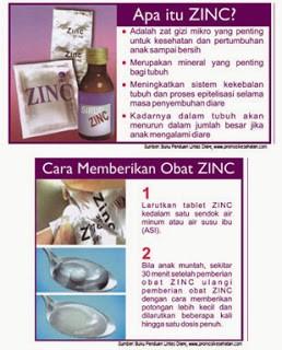 Cara pemberian tablet zinc untuk diare