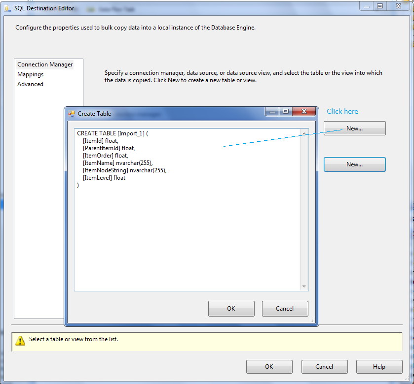 Import Excel data using SSIS packages - SQL Server