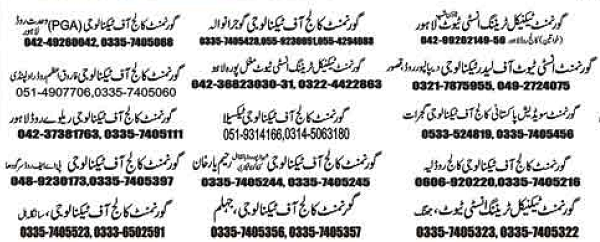 Names of Districts Rahim Yar Khan and others for free Chinese language courses in Punjab TEVTA