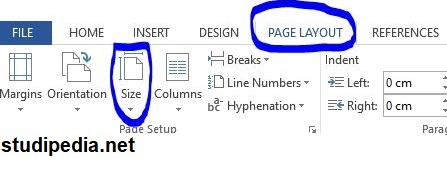 membuat laporan prakerin - mengatur ukuran kertas