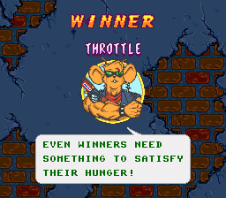 Even winners need something to satisfy their hunger!