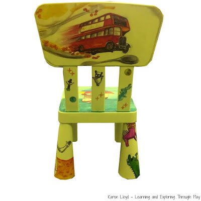 Fun Literacy Ideas for Kids - Story Chairs - Learning and Exploring Through Play