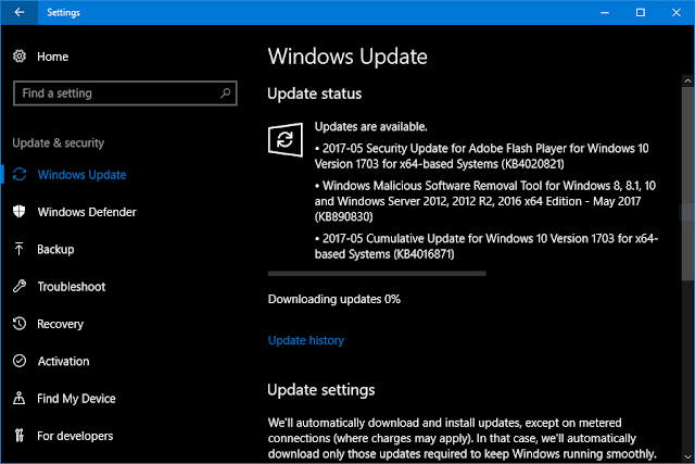 Cumulative Update KB4016871 Windows 10 Version 1703 Build 15063.296 and 15063.297