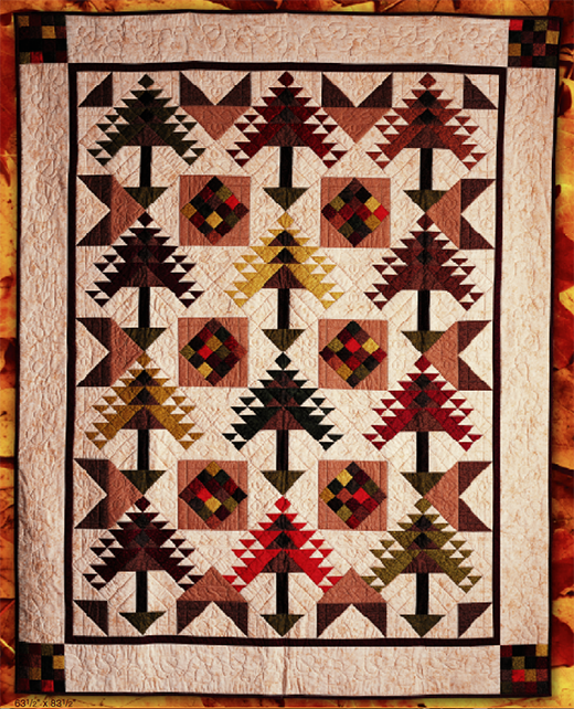 Autumn Splendor Quilt Free Pattern Designed by Lynn Dash of RJR Fabrics