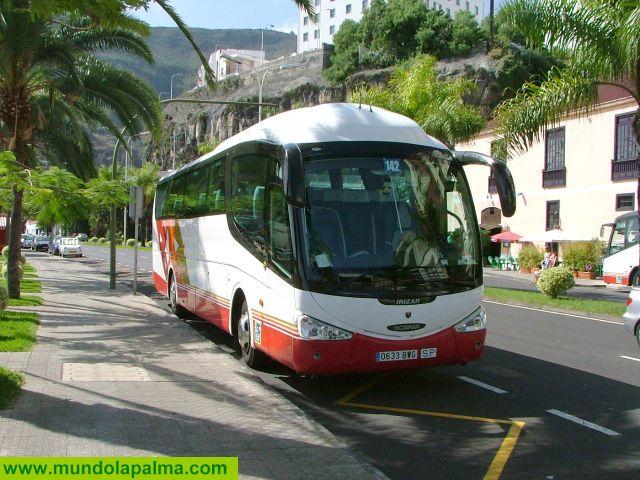 Cambios en la línea 201 de Transportes Insular de la Palma por el corte de la carretera LP-2