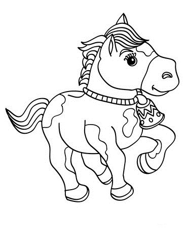 Click to see printable version of Baby Horse Coloring page