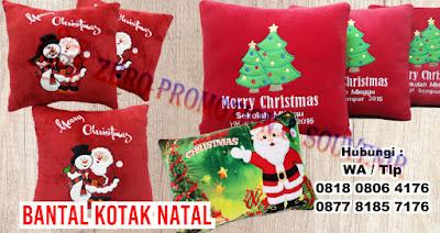 Boneka, Bantal Souvenir Natal, bantal Christmas Souvenir, Souvenir Kado Natal Bantal Sofa
