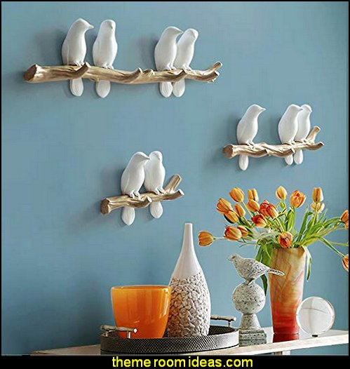 Birds On tree Branch Hanger  birdcage bedroom ideas - decorating with birdcages - bird cage theme bedroom decorating ideas - bird themed bedroom design ideas - bird theme decor - bird theme bedding - bird bedroom decor - bird cage bedroom decor - bird cage lighting