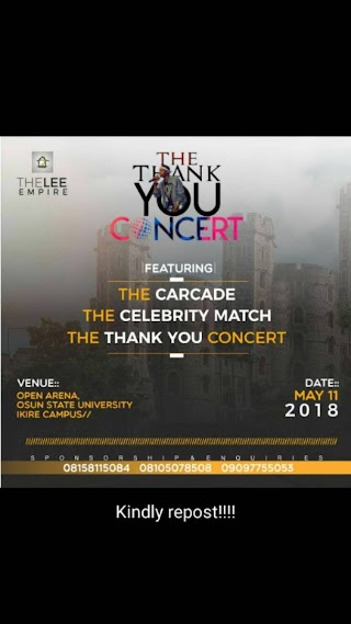 THE CELEBRITY MATCH #The Thank You Concert