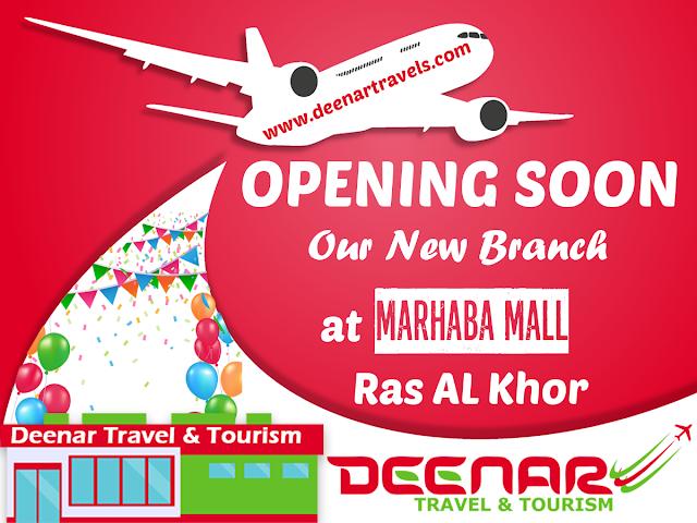 deenar travel & tourism, deenartravels, marhaba mall