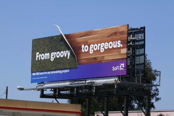 SoFi groovy to gorgeous remodeling project billboard