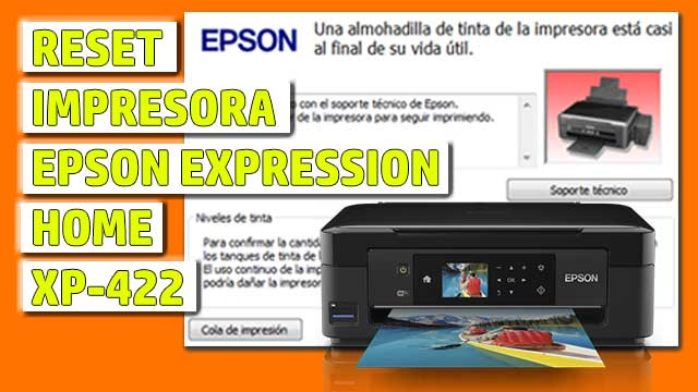 Reset impresora EPSON Expression Home XP-422