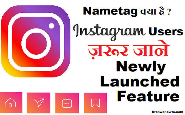 how to use Nametag feature on Instagram