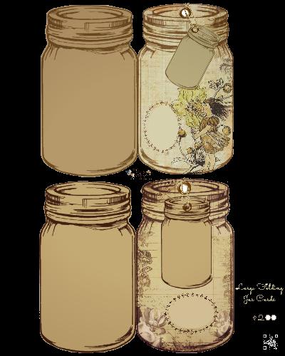 Large Folding Jar Tag