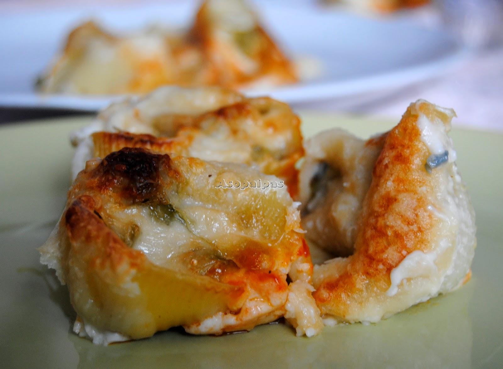 Lumaconi con Calabacines y Gorgonzola