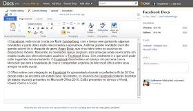 Office World no Facebook Docs