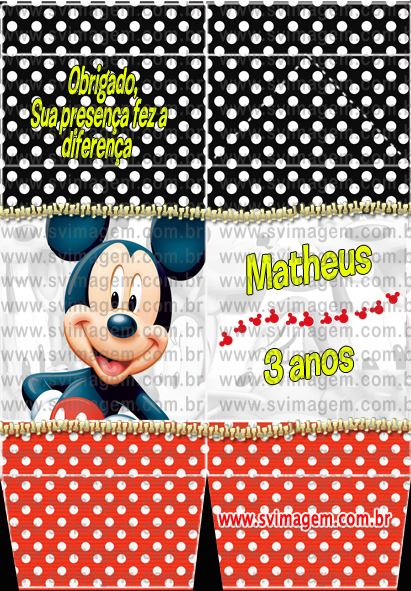 #svimagem #infantil #personalizado #mickey #caixademinileite