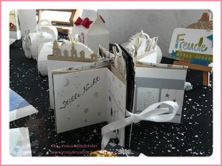 Stampin' Up Rosa Mädchen Kulmbach Teamtreffen Jenni Pauli Helga Hopen Weihnachtskarte Weihnachtsalbum Stille Nacht Weihnachtsdeko Sterne