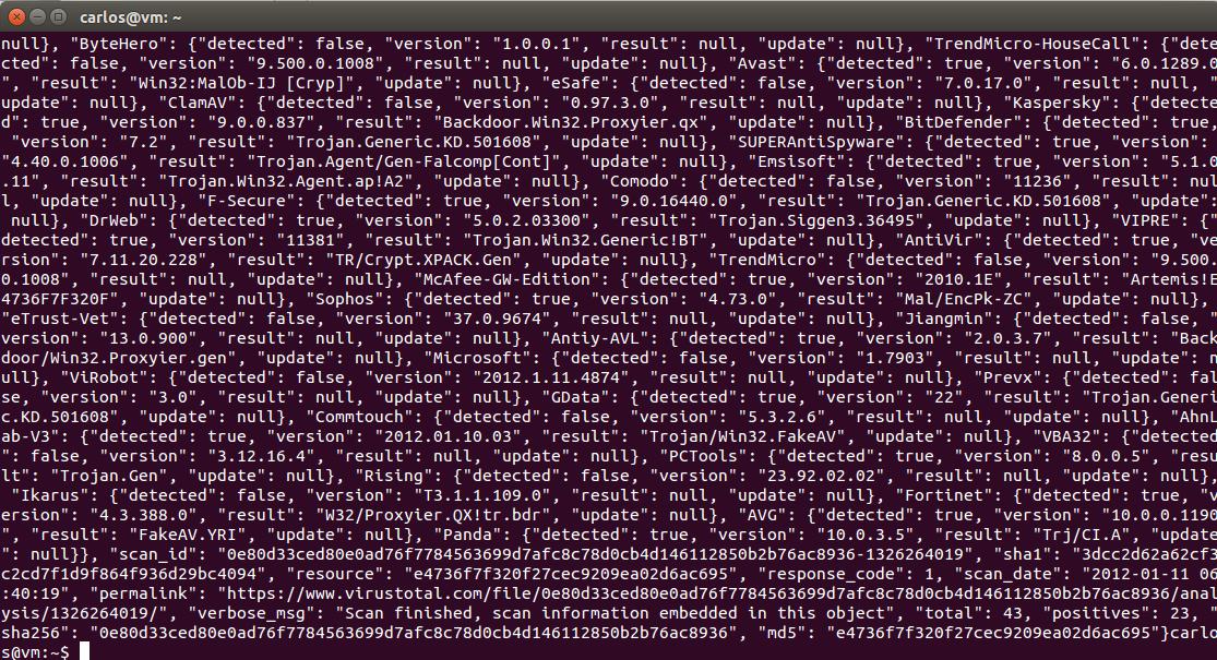 Mash That Key: Using Curl to Retrieve VirusTotal Malware Reports in BASH