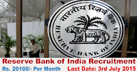 Reserve Bank of India Assistant Post Recruitment 2015